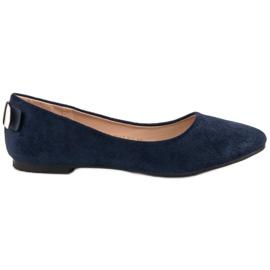 Vinceza Komfortabel Ballerina blå