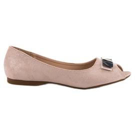 Vinceza pink Open Toe ballerinas