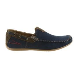 Riko moccasin sko mænd blå 781