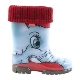 Demar børns støvler wellies med en varm sok