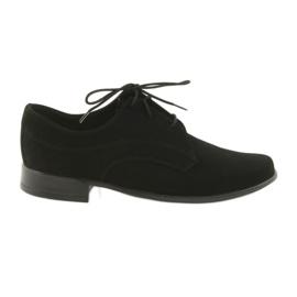 Sort Miko sko børn suede communion sko