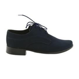 Navy Miko sko børn suede communion sko
