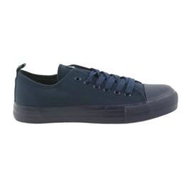 Mænds sko bundet sneakers blå American Club LH05 navy