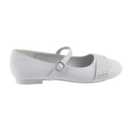 Hvid Pumps børns sko Communion Ballerinas rhinestones American Club 11/19