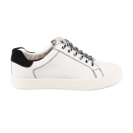 Kvinder hvide sneakers Caprice 23203 justerbar bredde