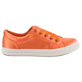 Kylie Satin Sneakers appelsin