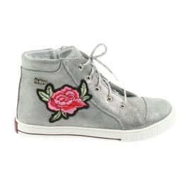 b47511828 Ren But grå Sko sko piger sølv Ren Men 3237 - ButyModne.pl