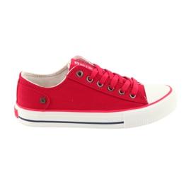 Sneakers bundet rød Big Star 274339