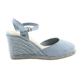 Big Star sandaler espadrilles 274A170 blå