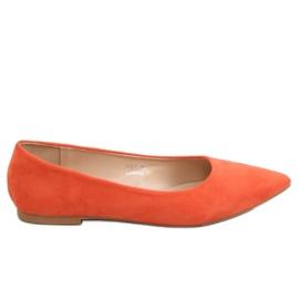 Orange kvinders ballerina 3157 Orange appelsin