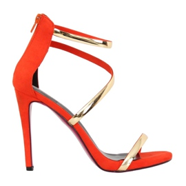 Sandaler på en orange pin 988-58 Orange appelsin