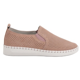 Filippo Læder Sneakers Slip On pink