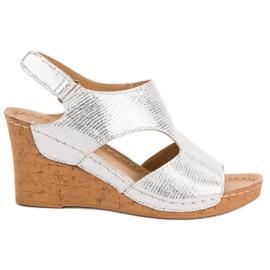 Filippo Sølv Wedge Sandaler grå