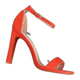 Appelsin Orange højhælede sandaler NF-37P Orange