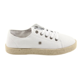Big Star Ballerinas espadrilles kvinders sko hvid Stor stjerne 274423