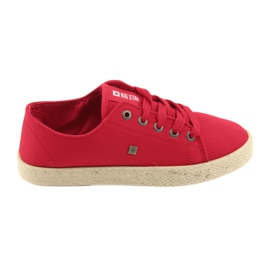Big Star Ballerinas espadrilles kvinders sko rød stor stjerne 274424