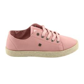 Ballerinas espadrilles kvinders sko pink Big star 274425