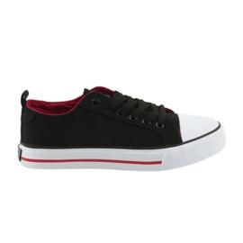 Black club-bundet sneakers American Club