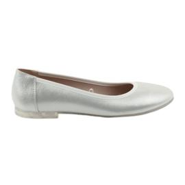 Grå Ballerina sko til kvinder sølv Sergio Leone 607