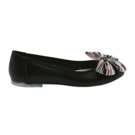 Ballerina kvinders sko med en bue Sergio Leone 605 sort