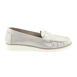 Sergio Leone Loafers kvinders sko beige perle