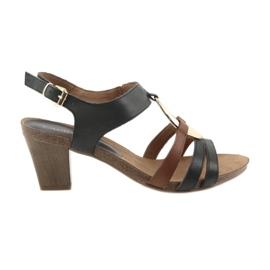 Caprice kvinders sandaler guld oval