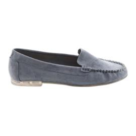 Kvinders suede loafers Sergio Leone 721 blå