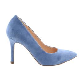 Pumper på en pin kvinders sko Edeo 3313 blå