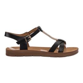 Filippo sort Klassiske Black Sandals