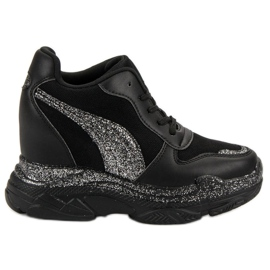 Sort Sneakers Med VICES Brocade