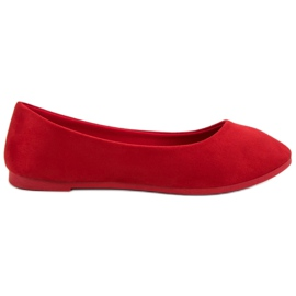 Suede Red Ballerina VICES rød