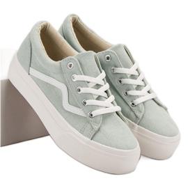 Kylie Moderigtige grønne sneakers