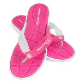 Tøfler Aqua-Speed Bali pink og hvid 05 479