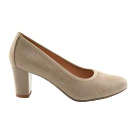 Kvinders sko elastiksål Arka 5137 beige brun