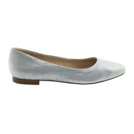 Ballerinas pumper Caprice 22104 sølvblå