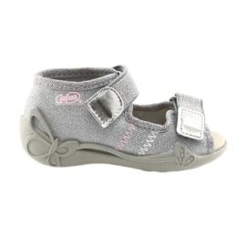 Grå Befado børns sko 342P002 sølvfarvet