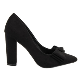 Seastar Suede Pumps With Bow sort