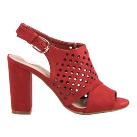 Seastar Openwork, opbyggede sandaler rød