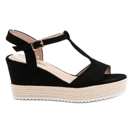 Seastar Espadrilles Black Sandals sort