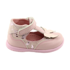 Ren But Ballerinas til piger med bue Ren 1466 pink