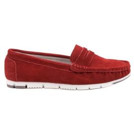Filippo Røde læder loafers