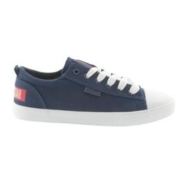Marineblå Big star sneakers 274876 navy
