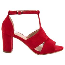Vinceza Røde sandaler