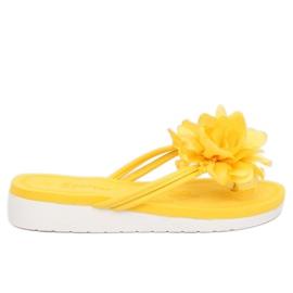 Flip-flops med blomst gul CK103 Gul