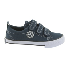 Velcro sneakers American Club navy blue