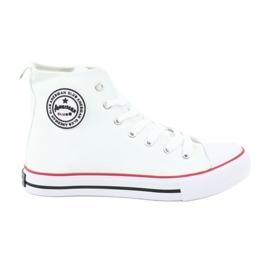 Hvid Sneakers White Bundet American Club