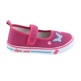 Pink ballerinas sneakers Atletico læder indersål