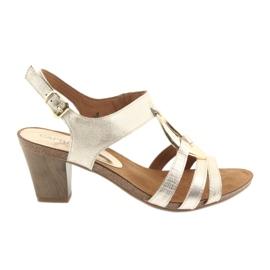 Caprice kvinders sandaler med udsmykning 28308 guld oval