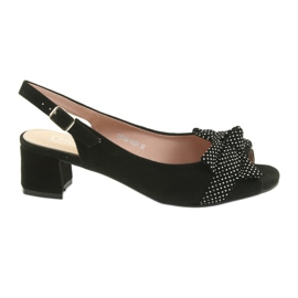 Filippo 788 sort / dots sandaler