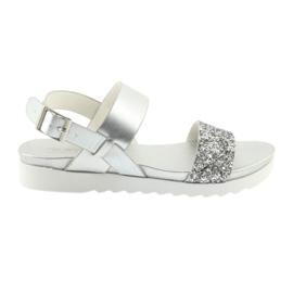 Komfortable sølv sandaler Filippo 685 grå